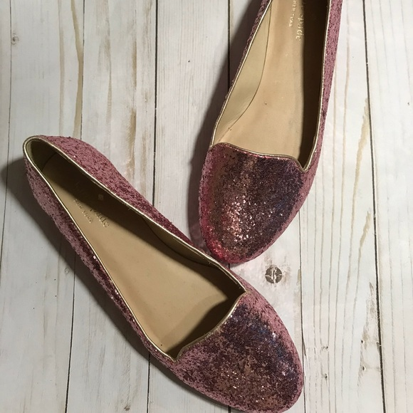72865fc7679f kate spade Shoes - Kate Spade Pink Glitter Sparkly Ballet Flats - 9
